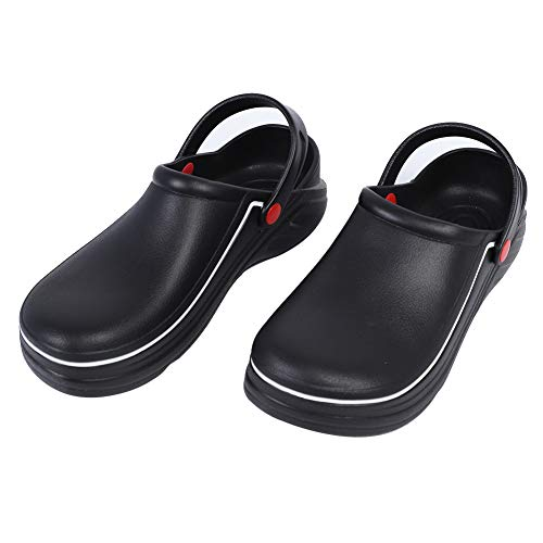 Zuecos de seguridad Zapatos Sandalias de chef Zapatos Zapatos de cocina impermeables Material EVA reutilizable Día lluvioso para suministros para el hogar(41)
