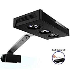▲REAL CREE LEDs & PROFESSIONAL SPECTRUM -- Carefully selected 3W high-power Cree LEDs (Cree Royal blue, Cree blue, Cree White) for our LED aquarium light, professional design proper blue and white light proportion, mimic the deep-sea environment, hel...
