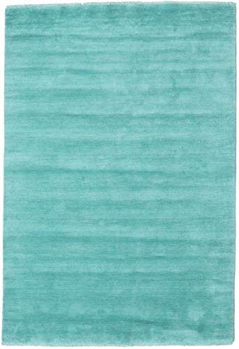 CarpetVista Alfombra Handloom Fringes - Aqua 160x230 Alfombra Moderna