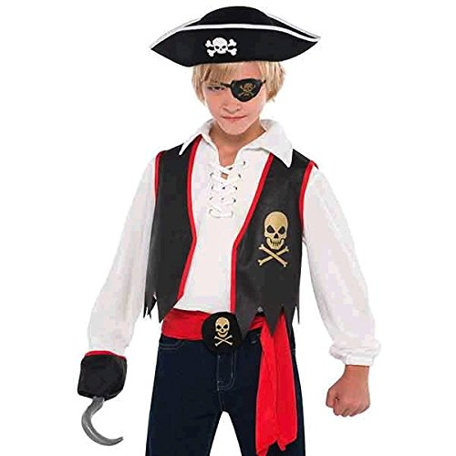 KIDS 5PC PIRATE SET FANCY DRESS COSTUME CHILDREN  PIRATES PARTY/'S ACCESSORY SET