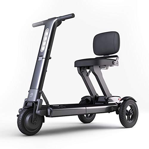 LINGZE Bicicleta eléctrica Plegable, con Potente batería y Motor de Scooter, neumáticos...