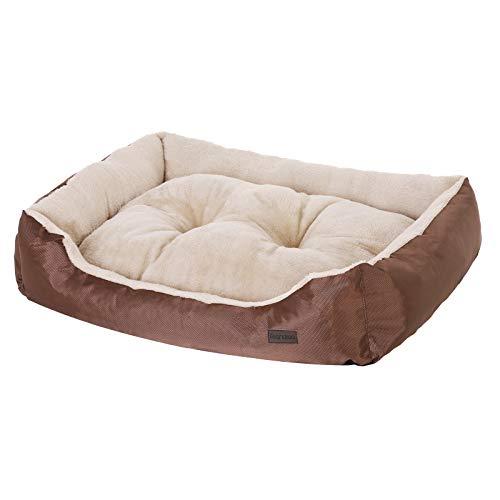 SONGMICS Hundebett mit beideseitig nutzbarem Hundekissen, kuschelig und groß (L: 90 x 70 x 17 cm) - 5