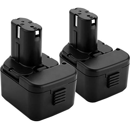2X Shentec 12V 3500mAh Ni-MH batería para Hitachi EB1212S EB1214L EB1214S EB1220BL EB1220HL EB1220HS EB1220RS EB1222HL EB1226HL EB1230HL EB1230R EB1230X EB1233X