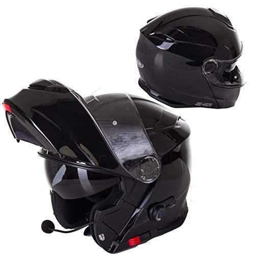 Viper RSV171 Casco de Moto Modular con Parasol Integrado Bluetooth Bici Scooter Touring Urban Casco de Seguridad de Cara Completa (Negro, M (57-58 CM))
