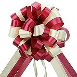 EDATOFLY 5 Piezas Lazos Regalos Grandes, Lazos Grandes para Navidad, Bodas, Fiestas, Decoración del Día de San Valentín y Envoltura de Regalos de (Rojo)