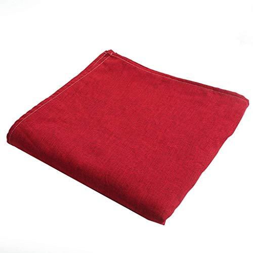 ILMF Rectangular Mantel, Anti-Sucio Lavable Mantel para Mesa Color Sólido Lino Exterior Cubierta para Mesa Adecuado para Sala de Reuniones Banquete Fiesta-Gran rojo-130X200cm(51X79pulgada)