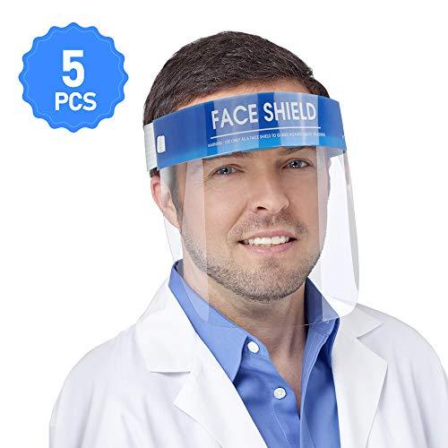 Gesichtsschutz Schützen Sie Augen und Gesicht mit einem elastischen Schutzfolienband und einem Komfortschwamm (5 Packungen)