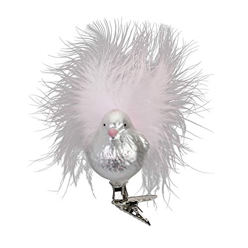 Inge-glas Sweety, Clip-On Bird 10207S018 IGM German Blown Glass Christmas Ornament