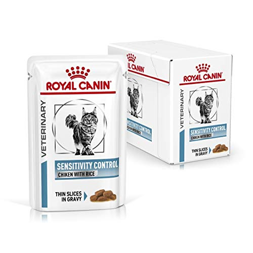 ROYAL CANIN Veterinary Diet Control Umido Gatto-12 x 85 FELINE SENSITIVITY CHICKEN 12X85 GR, Plástico ⭐