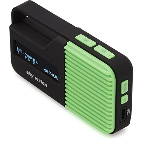 Sky Vision DAB Radio 10 G – Kleines, tragbares Mini Digital Radio, Outdoor, DAB+, FM/UKW Tuner, USB Ladefunktion (Grün)