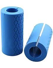 2X المضادة للانزلاق سيليكون أثقال حديدية سميكة شريط الدهون قبضة اليد اللياقة البدنية مدرب بناء العضلات تمرين
