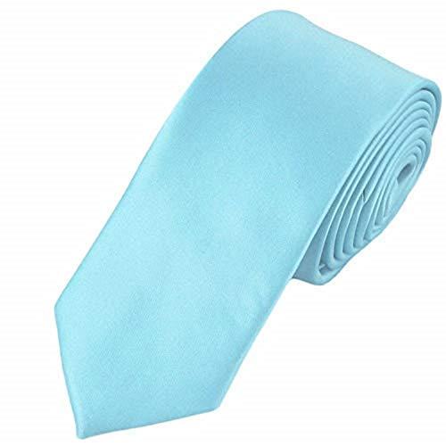 Trimming Shop Cravate Polyester Souple pour Tenue Habillée, Mariages, Bal, Célébration, Fêtes, Unisexe Design Classique - Bleu Ciel, Largeur 5cm