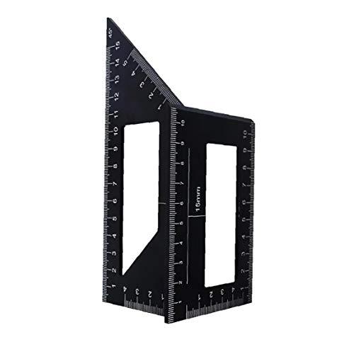 Yililay Holzbearbeitungs Measure Ruler Platz Winkel Lineal-Werkzeug Carpenter Platz für Ingenieure Tischler