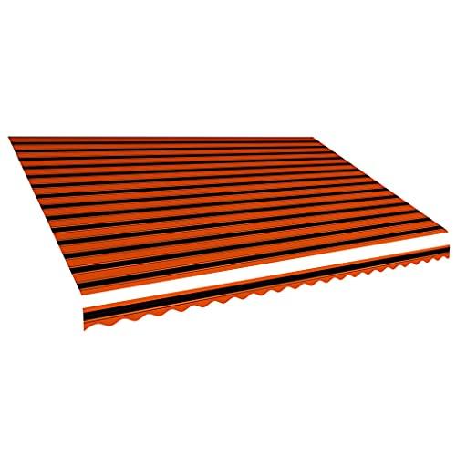 vidaXL Toile d'Auvent Voile d'Ombrage Protection Soleil Jardin Patio Terrasse Extérieur Résistant aux UV Durable Orange et Marron 500x300 cm