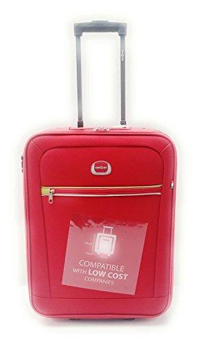 Trolley Clacson cm. 55 x 40 x 20 Bagaglio a mano Semirigido Impermeabile Idoneo Low Cost Ryanair,Rosso