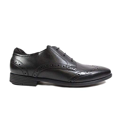 Start-rite Tailor Kids Shoes, Black Leather Boys School Shoes