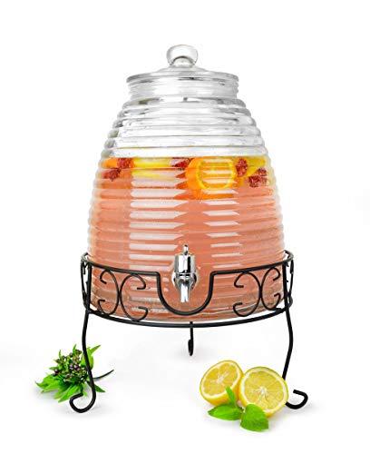 Sendez® XXL Getränkespender 9 Liter Zapfhahn Ständer Wasserspender Saftspender Dispenser