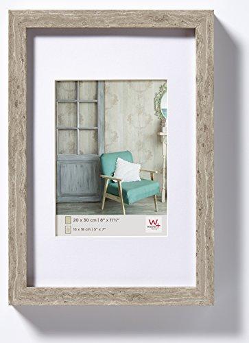 walther design EA045D Stockholm Holzrahmen, 30x45 cm, grau