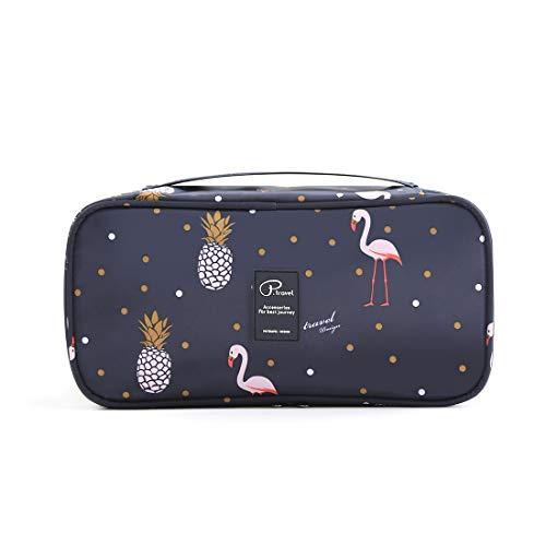 Tuscall Borsa stoccaggio Biancheria Intima Impermeabile Portatile Borsa da Viaggio Bra Organizzatore Sacchetto di immagazzinaggio portatile di viaggio (Flamingo)