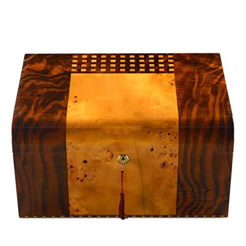 Caja de cigarros - humidiga de cigarros importada Madera de Cedro Piano...