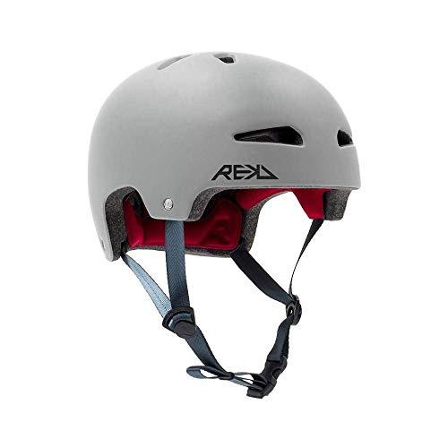 REKD Ultralite In-Mold Helmet Skateboard-Helm, Unisex, Erwachsene, Grau (Grau), 57-59 cm