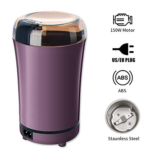 Eamplest Coffee Grinder Electric, Electric Coffee Blade Grinders with Stainless Steel Bowl for Nuts, Spices, Sugar - 50g Capacity