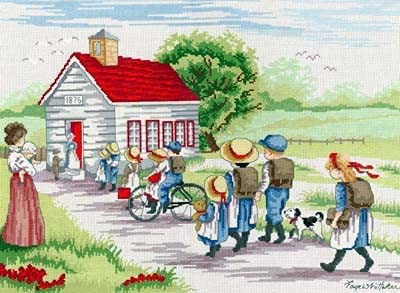 All Our Yesterdays Cross Stitch Kit - Red House 35% price OFF Little School