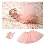 Baby Tutu Skirt Headband Set Blush Tutu Skirt Infant Girls Tulle Tutu Photo Prop Pink