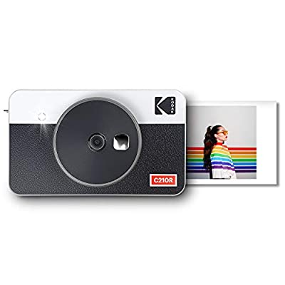 Kodak Mini Shot 2 Retro Portable Wireless Instant Camera & Photo Printer, Compatible with iOS & Android and Bluetooth Devices, Real Photo (2.1x3.4) 4Pass Technology - White