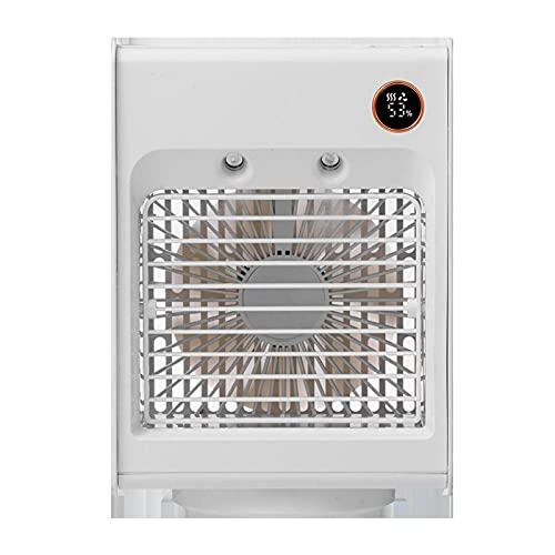 N\C F855 Water-Cooled Shaking Head Fan Mini Air Conditioner Desktop Spray Fan Combo Fan 4000 MAh Battery