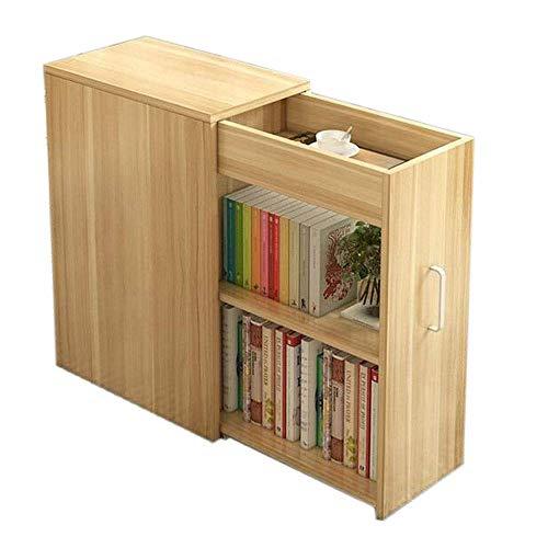 MOM Home Storage ShelvesOffice Furniture Stands Bookshelf Mobile Storage Locker with Doors Multipurpose Storage Unit Bookshelf Cabinet Bedroom Space Saving HoldersWood Color196811023346In