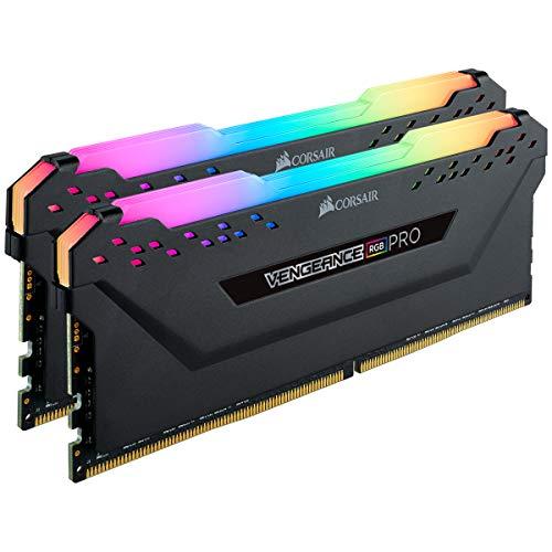 Corsair Vengeance RGB Pro 16GB (2x8GB) DDR4 4000 (PC4-32000) C18 AMD Optimized Memory – Black