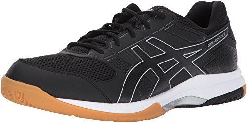 ASICS Men's Gel-Rocket 8 Volleyball Shoe, Black/Black/White, 7 Medium US