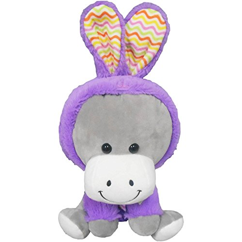 Texas Innovations Cute Easter Plush: Donkey Wearing Bunny Costume