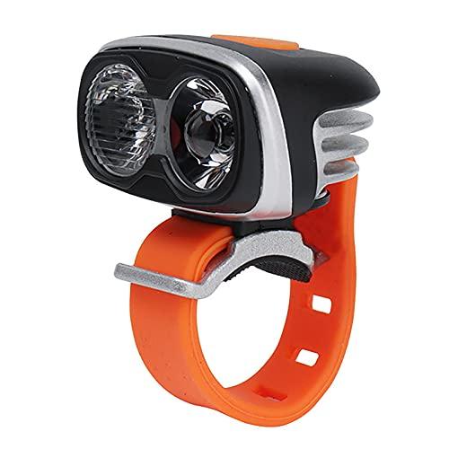 FGKLU 5 Luz Modos Brillo Alto Impermeable Luz Bicicleta, 1800 Lúmenes IPX6 Agua Prueba Luces Delantera Bicicleta, para Carretera y Montaña- Seguridad para la Noche