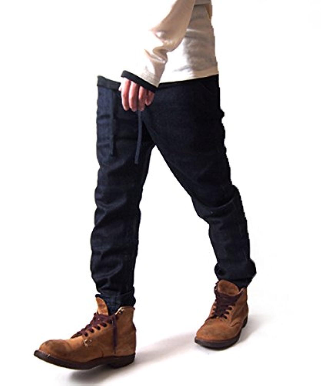 9213-2040 ジョガーパンツ メンズ デニムパンツ ロングパンツ ストレッチ イージーパンツ スリム テーパード