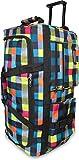 normani Reisetasche Jumbo Big-Travel mit Rollen riesige XXL Farbe Neon Square
