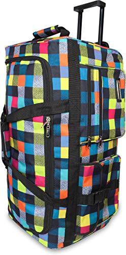 normani® Reisetasche Jumbo Big-Travel mit Rollen riesige XXL wählbar Farbe Neon Square