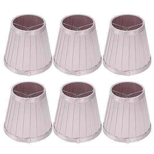 Hilitand Pantalla de lámpara de Dormitorio de 6 Piezas, lámpara de Tela de araña Moderna, iluminación para el hogar, lámpara de Escritorio, Accesorio, Rosa, púrpura