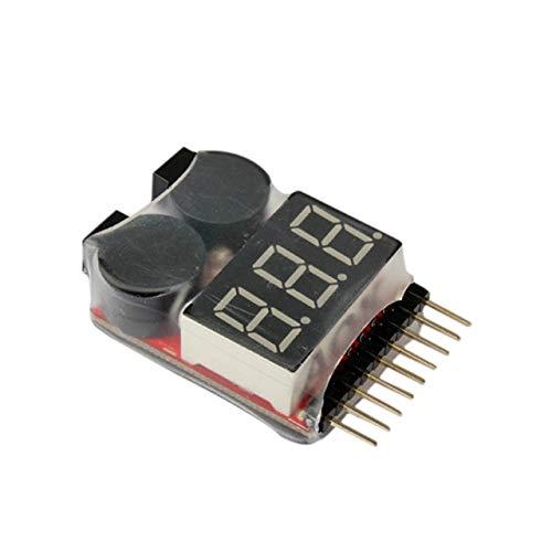 CHIMAKA 1PCS 1-8S de Baja tensión del zumbador de Alarma Lipo Voltaje de la batería Indicador de probador for el Coche de RC Barco RC Aviones no tripulados Accesorios RC Montaje de Bricolaje