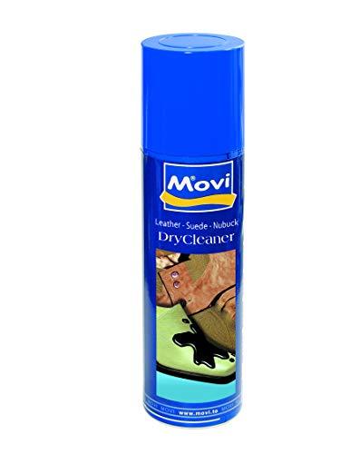 MOVI DRY CLEANER Spray - Smacchiatore a secco per pelli, camoscio, nubuck e tessuto. Rimuove le macchie localizzate - Neutro - 250 ml. Confezione da 3 bombole.