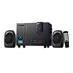 Zebronics Zeb- sw2492 Rucf 2.1 Multi Media Speaker Supporting Bluetooth via dongle , Sd Card, USB Input and FM,ZEBRONICS,Zeb-Sw2492 rucf with Bluetooth Dongle