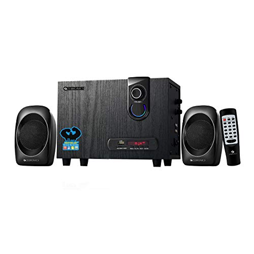 Zebronics ZEB-SW2492RUCF Wireless Bluetooth Multimedia Speaker With Supporting SD Card, USB, AUX, FM & Remote Control. (14 Watt, 2.1 Channel)