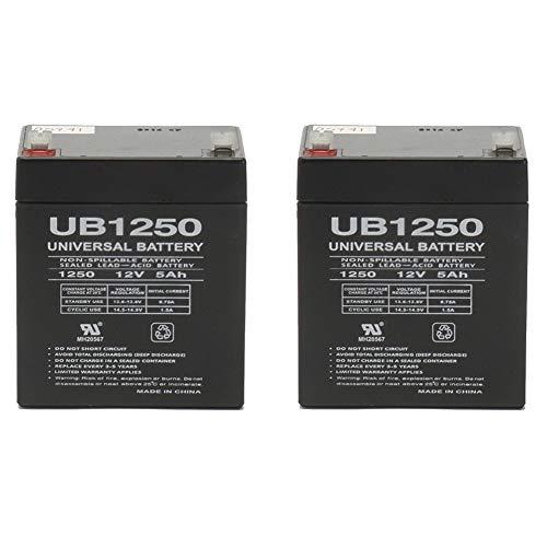 Universal Power Group Set of 2 Razor E175 12 Volt 5AmpH SLA Replacement Scooter Batteries