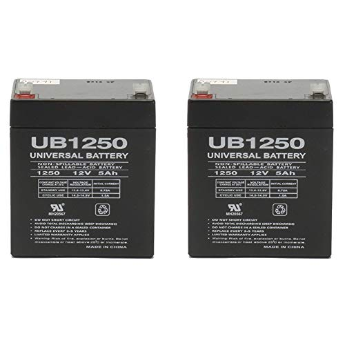 Universal Power Group UB1250 SLA Battery 12 Volt 5 Amp Hours - 2 Pack