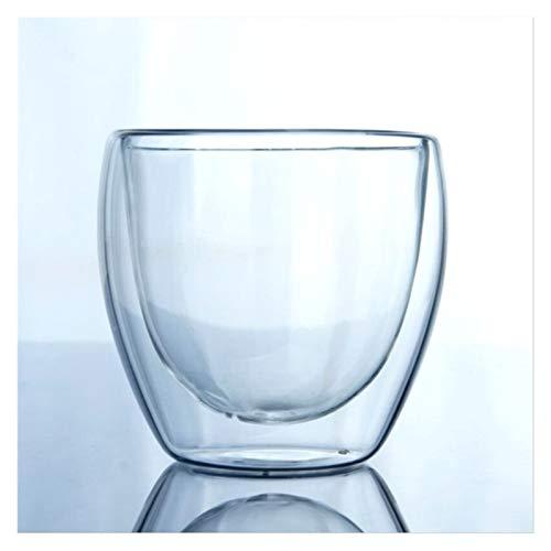 Copas De Vino De doble capa Copa 80ml / 150ml / 250ml / 350ml / 450ml de alta vidrio borosilicato Copa Bebidas Copa de doble pared de cristal Copas De Vino Tinto ( Capacity : 150ml , Color : Cup )