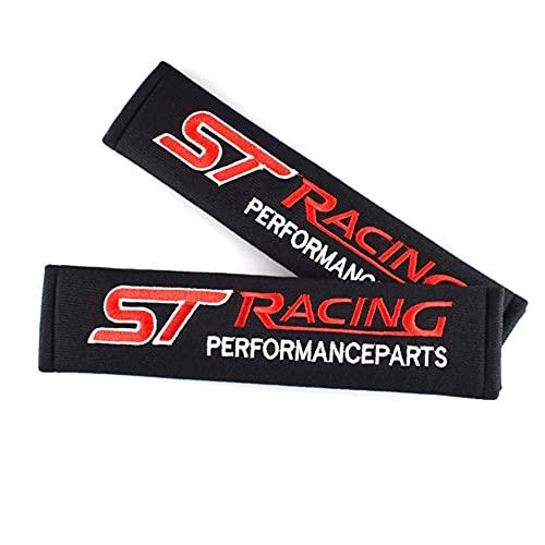 Cubierta de almohadillas de cinturón de seguridad Estilo de automóvil Proteger Hombros Pads Funda Compatible con Ford St Racing Focus 2 3 Auto Asiento Cinturón Accesorios Accesorios Car-Styling 2pcs /
