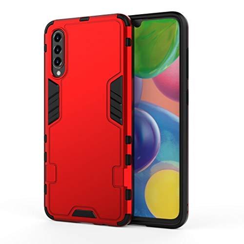LENASH para Galaxy A71 3 en 1 Cobertura Completa PC a Prueba de choques + Funda TPU (Negro) Funda para Phone (Color : Red)