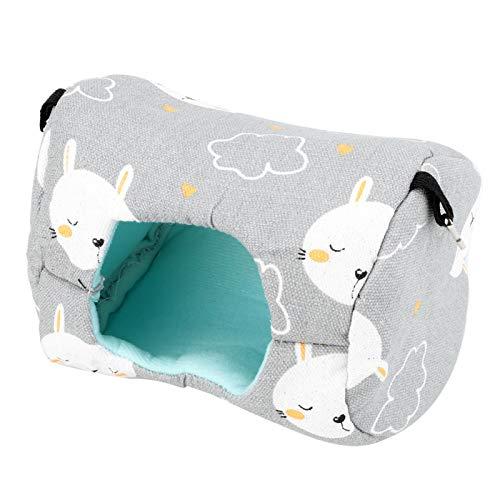 SALUTUYA Casa Colgante Gris para Mascotas de Conejo pequeño para Mascotas pequeñas para hámsters(Gray Bunny)