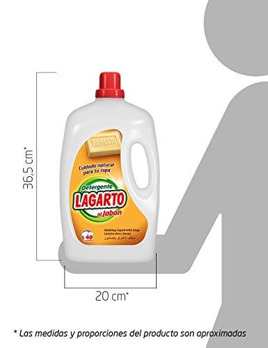 Lagarto Detergente Lavadora Liquido al JABÓN 40 lav. – 2960 ml.